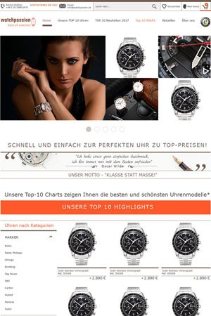 Webdesign für Watchpassion